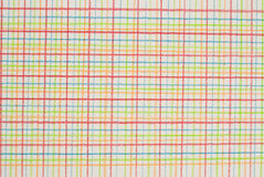 Pen on checkered background. Checkered background of different colors Royalty Free Stock Photo