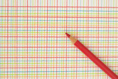 Pen on checkered background. Red pen on a checkered background Royalty Free Stock Image
