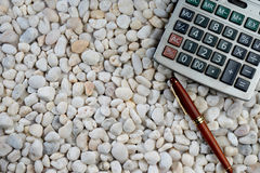 Pen and classic calculate Royalty Free Stock Photography