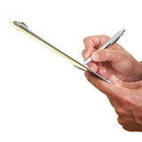 Pen and clipboard Stock Photography
