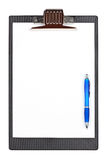 Pen and clipboard Royalty Free Stock Photo