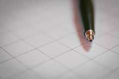 Pen close up and. A piece of paper Royalty Free Stock Photography