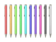 Pen Collection sur le blanc illustration de vecteur
