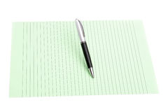 Pen and color paper Royalty Free Stock Photos