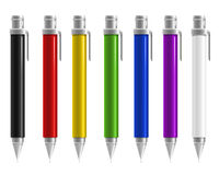 Pen Colorful. Colorful pen on white background Stock Photography
