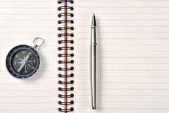 The pen,compass Royalty Free Stock Image