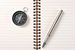 The pen,compass Royalty Free Stock Images