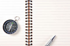 The pen,compass Stock Image