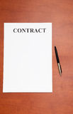 Pen and contract Stock Image
