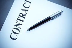 Pen and contract Stock Photos