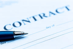 Pen on contract Stock Photography