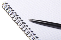 Pen on copybook Royalty Free Stock Photography