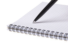 Pen on copybook Royalty Free Stock Photos
