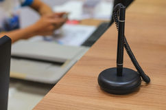 Pen on counter. Black pen on counter counter service Stock Photo