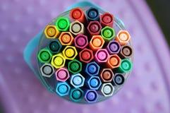 Pen in de doos Royalty-vrije Stock Fotografie