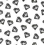 Pen Diamond Seamless Pattern et le fond ont à main levée placé 04 Photos stock