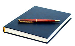 Pen with the diary. Pen lying on the diary Royalty Free Stock Photo