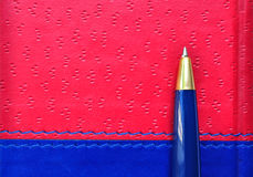 Pen on diary, background Stock Images
