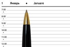 Pen and diary Stock Photo