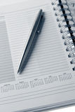 Pen in diary Royalty Free Stock Photography