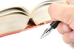 Pen and dictionary Royalty Free Stock Photo