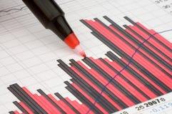 Pen die diagram toont Royalty-vrije Stock Foto's