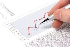 Pen die Diagram toont Royalty-vrije Stock Afbeeldingen