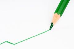 Pen die een positieve lijn trekt Stock Afbeeldingen