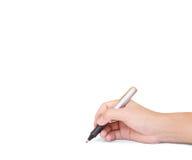 Pen die iets schrijven stock afbeeldingen