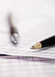Pen on document Royalty Free Stock Image