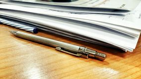 Pen and Documents,  work Royalty Free Stock Photo