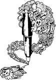 Pen doodle illustration Royalty Free Stock Photo