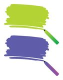 Pen drawing. Highlighter pen drawing on paper, illustration vector illustration