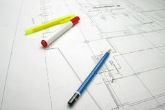 Pen and drawing detail Royalty Free Stock Images