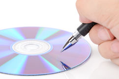 Pen and DVD Royalty Free Stock Images