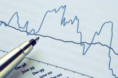 Pen in een rapport Stock Afbeeldingen