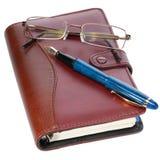 Pen en agenda royalty-vrije stock afbeeldingen
