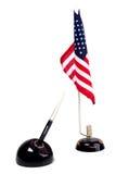 Pen en Amerikaanse vlag Stock Foto's