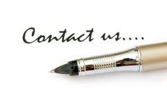 Pen en bericht Stock Afbeeldingen