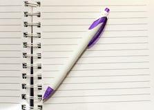 Pen en blocnote Royalty-vrije Stock Afbeelding