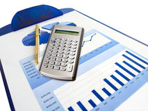Pen en calculator Stock Afbeeldingen