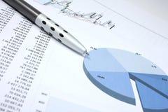 Pen en cijfers Royalty-vrije Stock Afbeelding