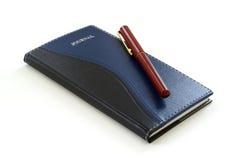 Pen en Dagboek Stock Afbeelding