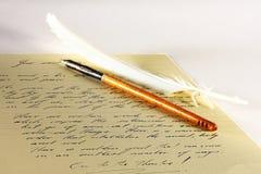 Pen en document Stock Afbeeldingen
