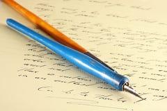 Pen en document Stock Foto