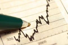 Pen en grafiek Stock Fotografie