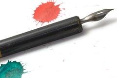 Pen en inkt 3 stock foto's