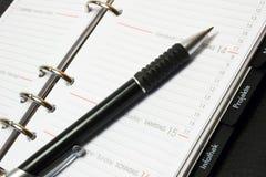 Pen en Kalender Stock Foto
