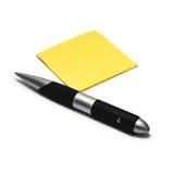 Pen en nota royalty-vrije stock afbeelding