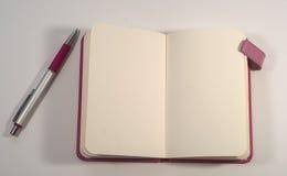 Pen en notitieboekje Stock Afbeelding